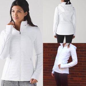 Lululemon First Mile Jacket Coat 4 White Hooded